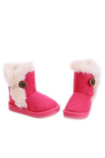 Hang-Qiao Winter Children Snow Boots Thick Warm Shoes Kids Shoes Rose red
