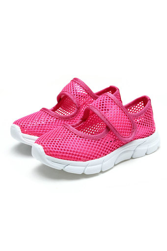 Kids Girls Sandals Beach Casual Mesh Breathable Flat Slip-On Shoes Sneakers