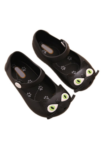 I63 Fashion Child Summer Ankle Strap Hasp Girl's Shoes Cat Girls Boys Kids Jelly Sandals Color Black - Intl