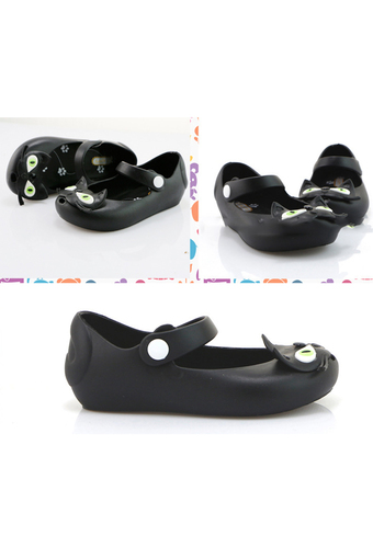 JustCreat Girls' Fashion Soft PVC Sandals (Black)