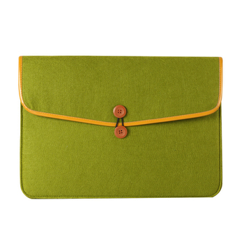 Boshiho Felt Cover Protective Laptop Case For Apple Mac-book Air 13.3 Inch(Olive Green)