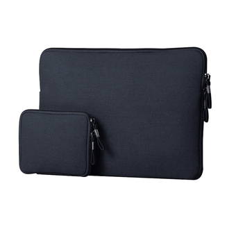 Laptop Notebook Sleeve Case Sailcloth Bag Cover for MacBook Air 11.6 inch(Dark Blue)