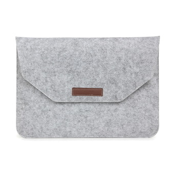 "12"" Apple New Macbook / 11"" MacBook Air /12"" Surface Pro 3 case Ultrabook Felt Sleeve Case Cover Bag-Grey"" ร้านค้าดี ราคาถูกสุด - RanCaDee.com"