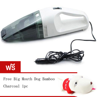 BEST 60W Wet and dry Portable Car Vacuum Cleaner เครื่องดูดฝุ่นในรถยนต์ (Black/White) Free Long haired dog bamboo charcoal package Red
