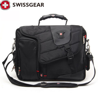 "New Brand SWISSGEAR Waterproof 15"" Laptop Portable Polyester bag Men and Women Laptop Messenger Business Bag JDB62 - Intl"""