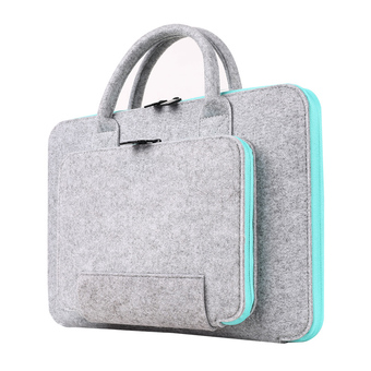 HomeBetter 2016 New Felt Universal 11 13 15 17 Inch Laptop Bag Notebook Case Briefcase Handlebag Pouch For Macbook Air Pro Retina Men Women, 14 inch +Blue
