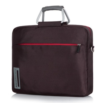 BRINCH 13 14.1 15.6 inch nylon material aluminum alloy laptop computer bags for men and women one shoulder laptop bag, 15.6 inch+ (Brown) (Intl)