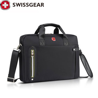 "New Brand SWISSGEAR Waterproof 15"" Laptop Portable Nylon bag Men and Women Laptop Messenger Business Bag JDB68 - Intl"""