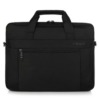 BRINCH Laptop Case Sleeve Nylon Waterproof Notebook Cover Business Casual Laptop One Shoulder Bag 14 inch (Black) (Intl)