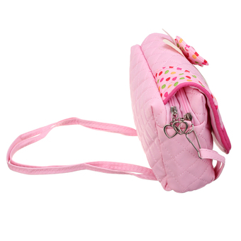 Kids Children Girls Satchel Shoulder Colourful Handbag Lovely Messenger Bag Pink (Intl)