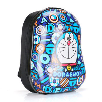 13 inch Anime Doraemon Pattern Hard Cover Backpack for Kindergarten Kids
