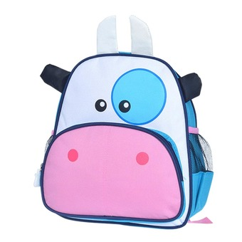 Kids Cartoon Cow Shape School Bags Backpack Rucksack Satchel