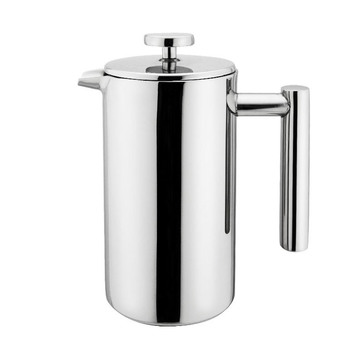 Double Wall Stainless Steel Coffee French Press 1000ML Silver