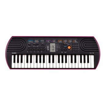 CASIO คีย์บอร์ด Keyboard SA-78+Adapter AD-5X (2010) (Black)