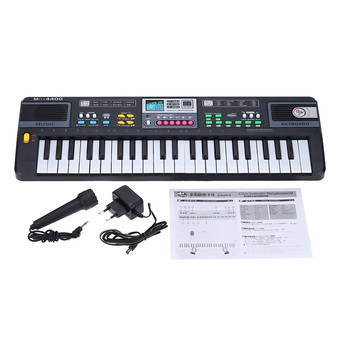 44 Keys Educational Electone for Children Multifunctional Electronic Keyboard Music Toy with Microphone Lightweight and Durable - Intl