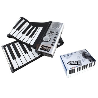 Soft Roll Up Electronic Flexible Piano Keyboard 61 Keys Foldable Portable Electric Digital PIANO With MIDI Plug