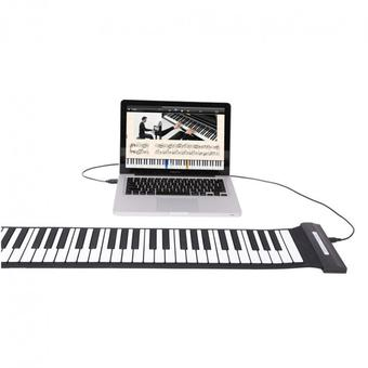 USB 88 Key MIDI Roll Up Electronic Piano Flexible Silicone Keyboard - Intl