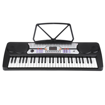 54 Keys LED Display Digital Electronic Music Keyboard Electric Piano Organ with Sheet Music Holder Microphone - Intl