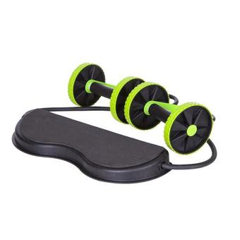 EXERCISE Double Wheels Ab Roller Pull Rope Abdominal Trainer HJ-B098