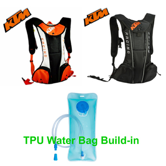 Black motorcycle KTM hydration water backpack motocross motorized backpack outdoor camping hiking warm water bag - Intl