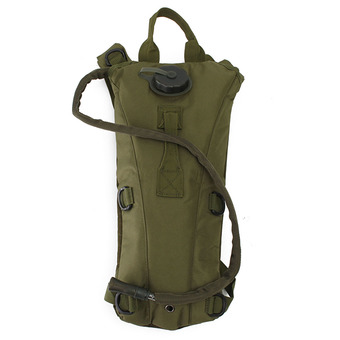 3L w/ Water Bladder Bag Hydration Backpack Pouch Packs Hiking Camping Cycling Army Green