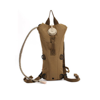 5L Waterproof Tactical Military Backpack Hydration Bladder Water Bag Pouch for Outdoor Hiking Climbing Khaki