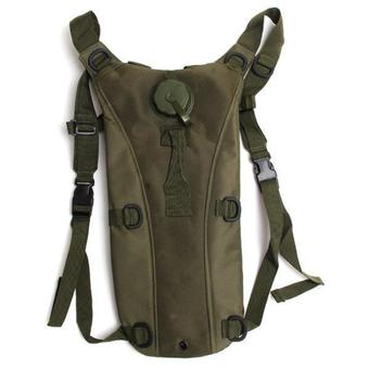 LALANG Outdoor Hiking Tactical Military Backpack Bottle Bags Army Green