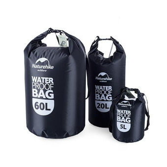 5L TransparentWaterproof Dry Bag for Outdoor Camping Hiking Swimming Black