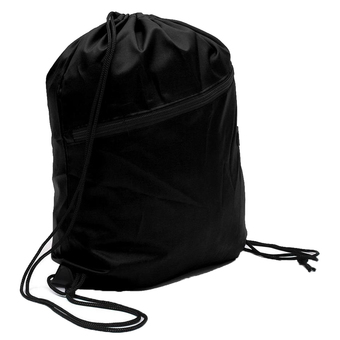 Gracefulvara Drawstring Backpack Tote Bag Cinch Sack School Bag Sport Bag (Black)