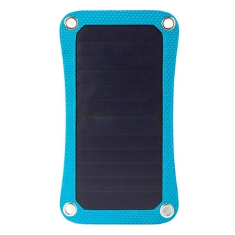 Portable and Fashionable Outdoor Solar Charger Backpack with 6.5W Solar Panel and Standard USB Data Cable and 2.0L Hydration Pack(Blue) - Intl