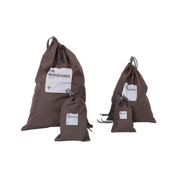 4in1 Travel Luggage Storage Organizer Packing Bags Drawstring Pouch Waterproof Coffee
