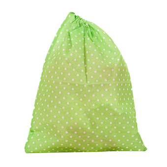 Fashion Printing Shoes Bag Portable Travel Storage Pouch Drawstring Dustproof Green