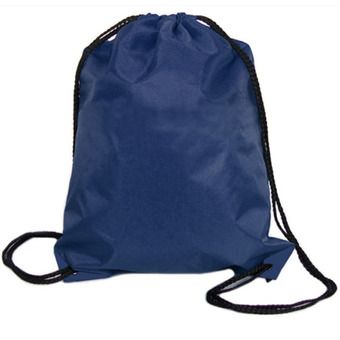 Nylon Drawstring Cinch Sack Sport Travel Outdoor Backpack Bags Dark Blue