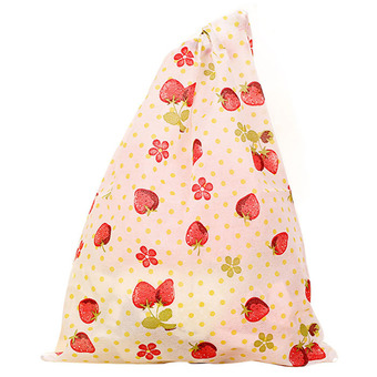Fashion Printing Shoes Bag Portable Travel Storage Pouch Drawstring Dustproof Red