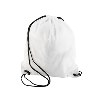 OH Premium School Drawstring Duffle Bag Sport Gym Swim Dance Shoe Backpack White