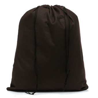 Waterproof Non-woven Shoe Cloth Storage Travel Drawstring Bag Coffee