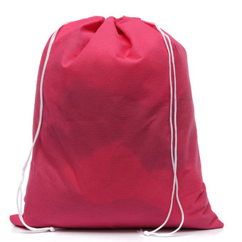 Waterproof Non-woven Shoe Cloth Storage Travel Drawstring Bag Rose Red