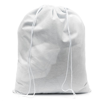 Waterproof Non-woven Shoe Cloth Storage Travel Drawstring Bag White