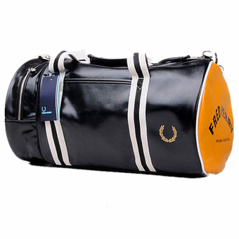 Large Capacity Gym Totes Sports Bag Training Package Sports Duffles(Black and Gold) - Intl