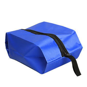 Nylon Oxford Waterproof Shoes Bag Travel Outdoor Storage Tote Dust Bag Blue (Intl)