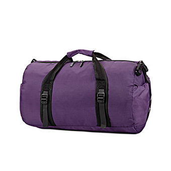 Foldable Large Water Repellent Sports Black Duffle Bag for Athletic Men or Women (Purple) - Intl
