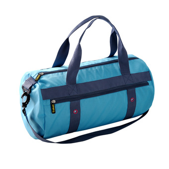 High quality sole all-in 3 isolation layer design swimming waterproof wet separation of men and women receive bag big capacity of the new gym bag (blue