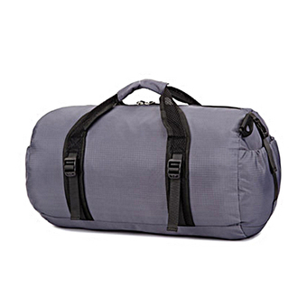Foldable Large Water Repellent Sports Black Duffle Bag for Athletic Men or Women – Gray - Intl