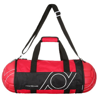 "niceEshop Foldable Duffle Bag Medium 22"" Unisex Football Soccer Shape Travel Bag for Sports Gym Vacation Home Outdoor(Red)"""