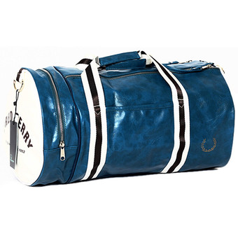 Large Capacity Gym Totes Sports Bag Training Package Sports Duffles(Blue and White)