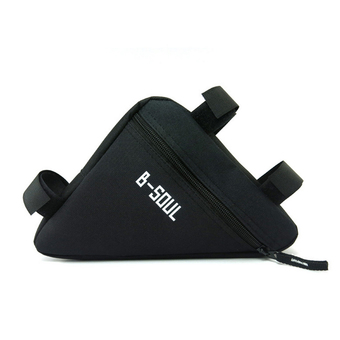 Triangle Cycling Front Tube Frame Pouch Bag Holder Saddle(Black) - Intl
