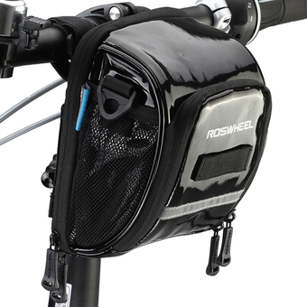Roswheel Cycling Top Front Frame Handlebar Bag PU Moutain Road Bike Bicycle Bag Riding Accessories Black - Intl