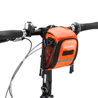 Roswheel Cycling Top Front Frame Handlebar Bag PU Moutain Road Bike Bicycle Bag Riding Accessories Orange - Intl