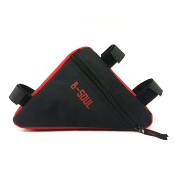 Triangle Cycling Front Tube Frame Pouch Bag Holder Saddle(Black+Red) - Intl