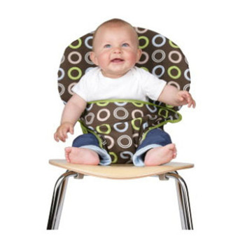 The Washable and Squash Able Travel High Chair,a Variety of Colors of Style Options Color Chocolate Circles